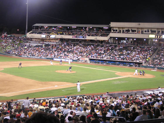 A view from 3rd base - Raley Field,West Sacramento