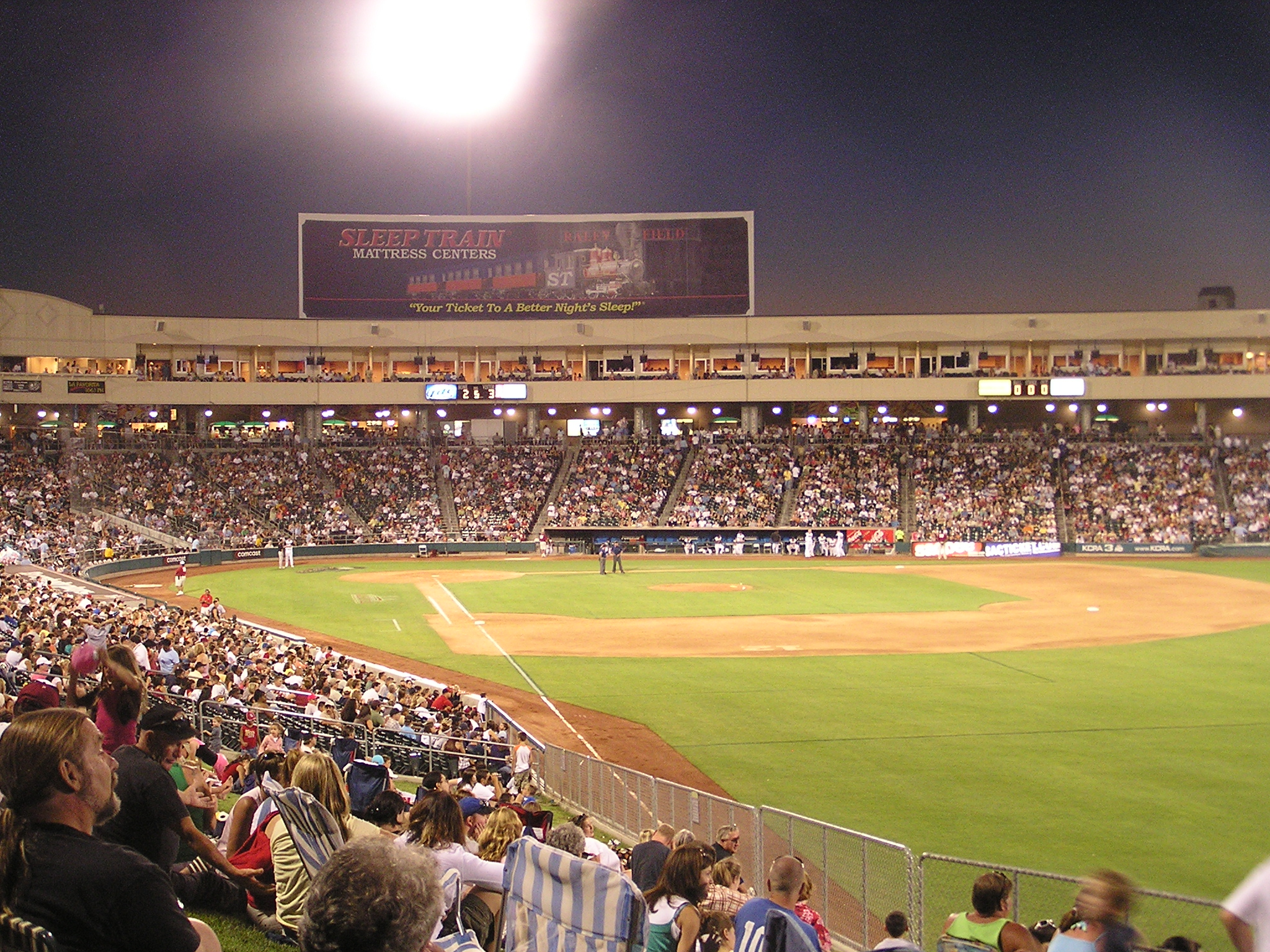 A packed House at Raley Field - West Sacramento
