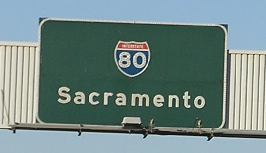 Road Sign in Sacramento